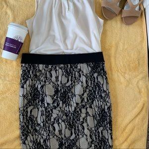 Black lace skirt- XOXO